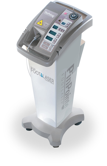 PinPointe™ FootLaser® device used to kill toenail fungus under the nail bed
