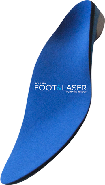 Custom orthotic insole from Bay Area Foot & Laser Podiatry Group